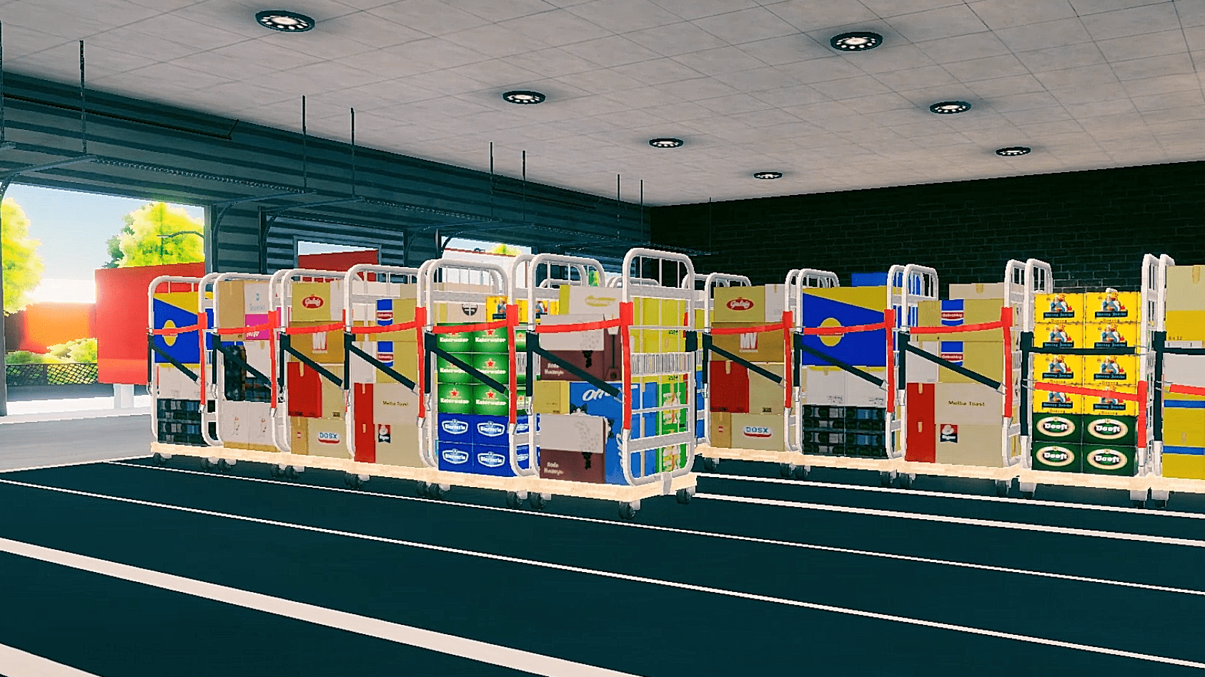 Warehouse Game Containers